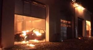 incendiu service auto bistrita-1