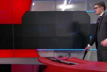 Teroare într-un studio de televiziune, după ce un bărbat a pătruns înarmat – VIDEO