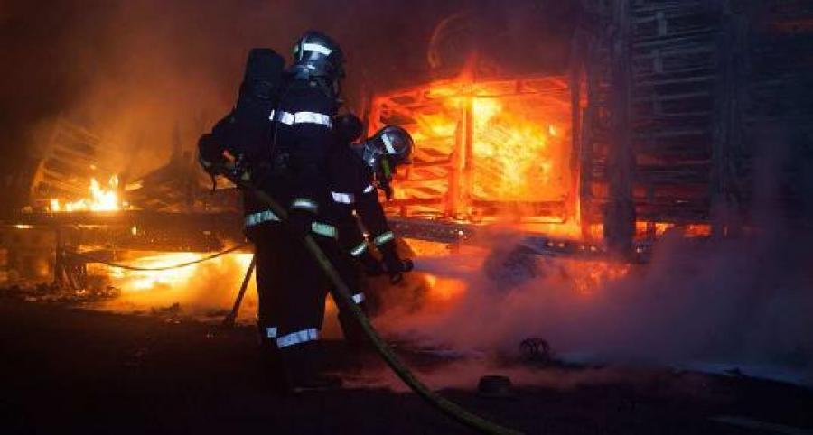 accident masini incendiate paris