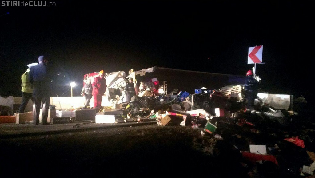 accident tir autotren rasturnat feleacu