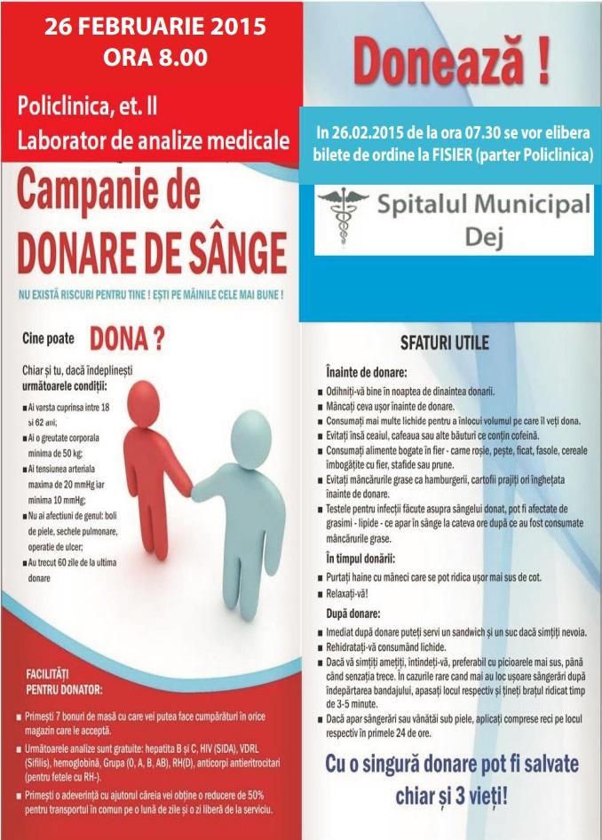 campanie donare sange dej febr2015