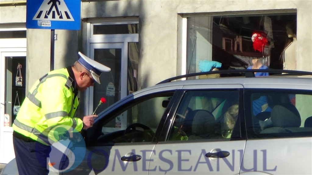 Politia rutiera Dej - Flori pentru soferite (18)