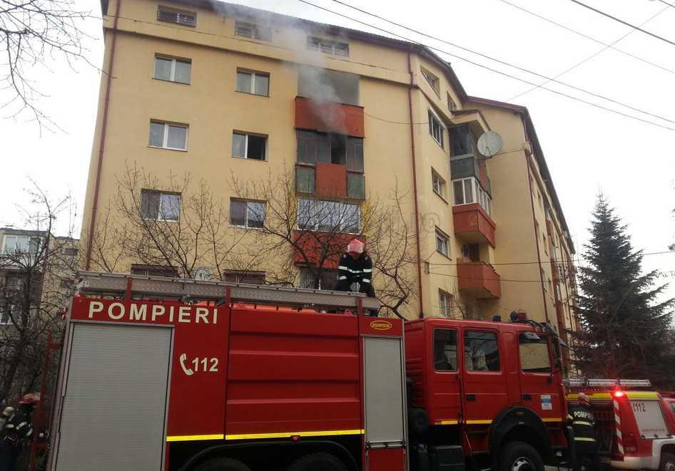 incendiu apartament cluj