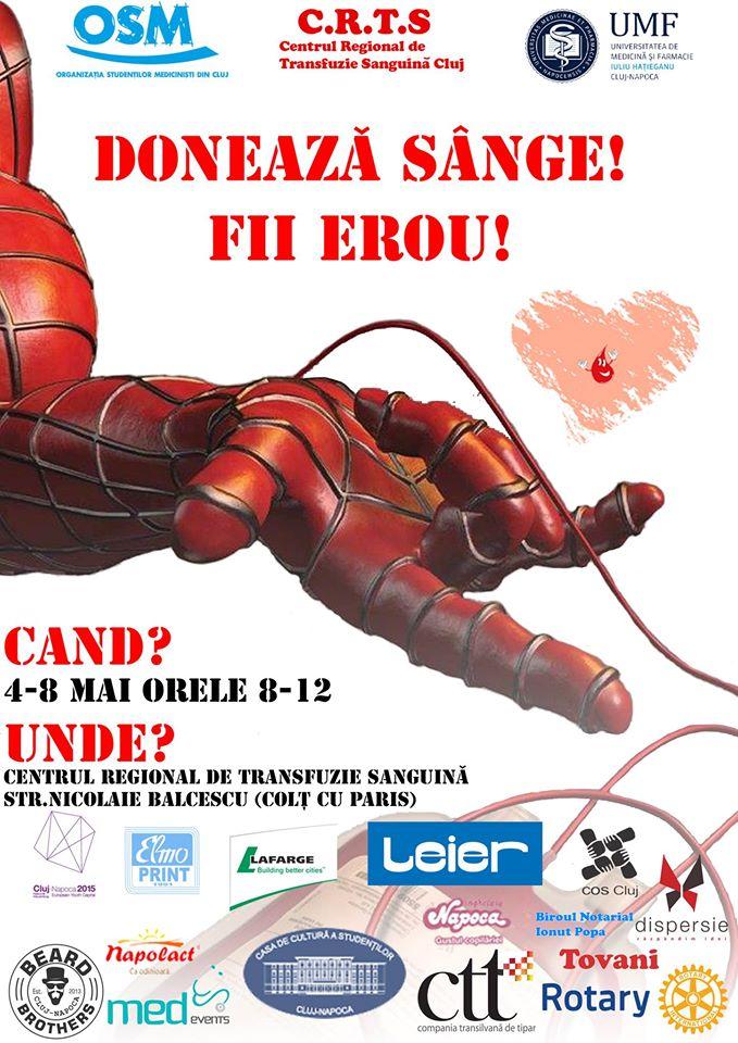 Campanie donare sange UMF Cluj