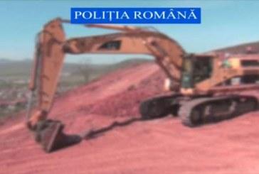 Trei utilaje furate, folosite la lucrări la Autostrada Transilvania – VIDEO
