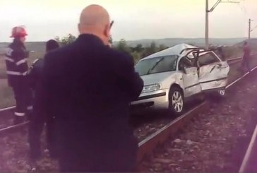 Accident feroviar. O familie spulberată de un tren la Jucu – VIDEO