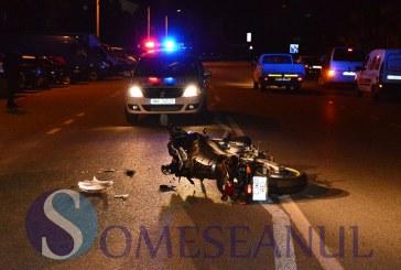 Accident la Gherla. Un motociclist băut și cu permisul suspendat  a căzut