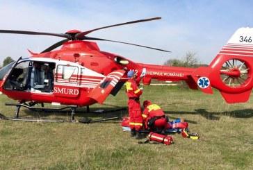 Grav accident la Anieș. Un elicopter SMURD va prelua victima de la Năsăud