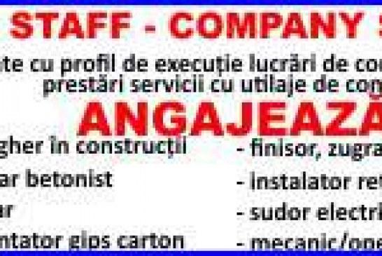 Locuri de muncă la Dej. Se caută muncitori în construcții/instalații (P)