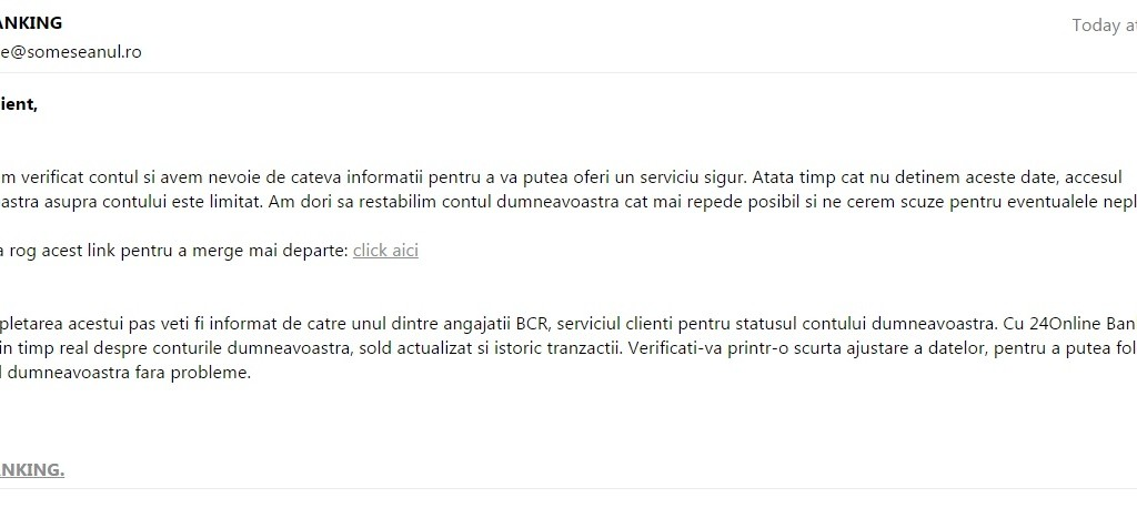 tentativa phishing bcr