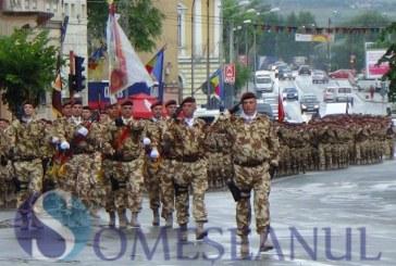 Dejul în sărbătoare, cu ocazia ceremoniei de plecare a Batalionului 811 Infanterie Dej în misiune în Afganistan – FOTO/VIDEO