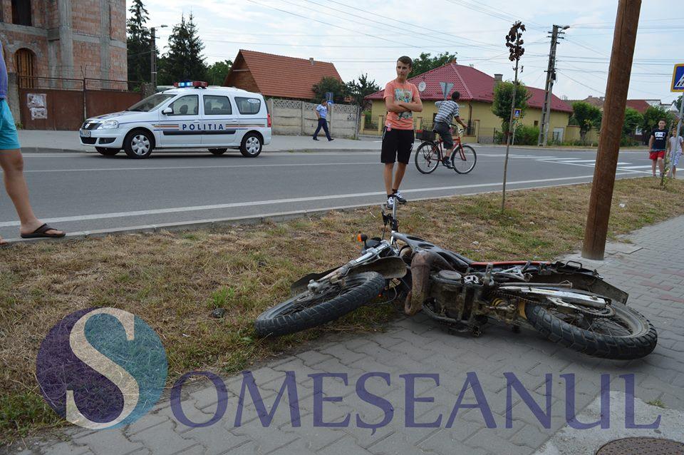 accident motociclist gherla 3