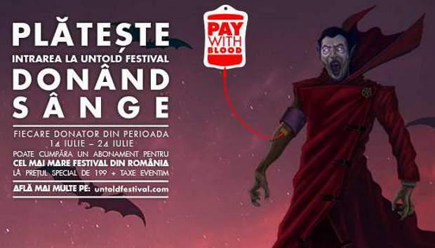 campanie donare sange untold festival
