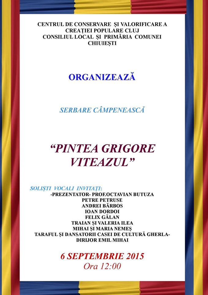 Serbare Campeneasca Pintea Grigore Viteazul la Chiuiesti