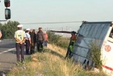 Tragedie pe Autostrada Soarelui. Doi morți și zeci de răniți după ce un autocar s-a răsturnat – VIDEO