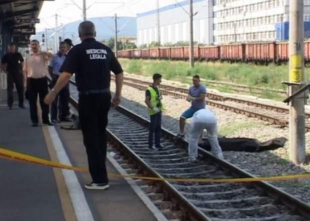 sinucidere lovita de tren gara bistrita