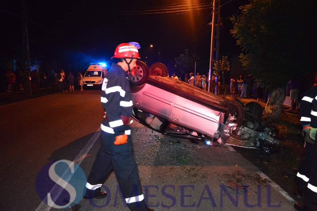 someseanul-accident masina rasturnata gherla (1)