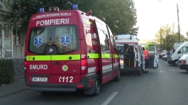 accident bistrita SMURD ambulanta