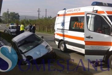 Accident la Mănăstirea. O șoferiță a pierdut controlul volanului și a intrat într-un cap de pod – FOTO/VIDEO