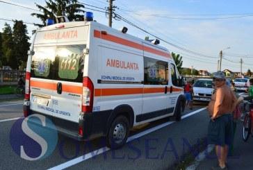 Băimăreancă accidentată de un autoturism, după ce a traversat neregulamentar strada