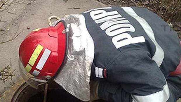 cazut in canal pompieri