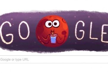 Google marchează descoperirea apei pe Marte printr-un nou logo – FOTO