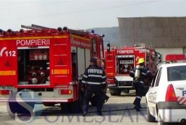 Incendiu la o instalaţie a unui operator economic din Crişeni