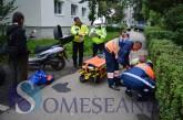ACCIDENT LA GHERLA: Un mopedist s-a autoaccidentat pe o alee – FOTO/VIDEO