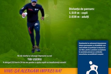 """Maratonistul Tiberiu Ușeriu va alerga mâine la Dej la """"Crosul Toamnei"""", eveniment cu scop caritabil"""