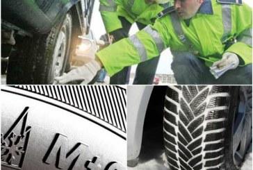 Șoferi amendați la Cluj pentru că nu aveau cauciucuri de iarnă. Au rămas și fără certificatele de înmatriculare