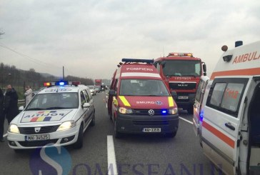 Grav accident pe DN 1C la Livada. Circulația este blocată între Gherla și Cluj