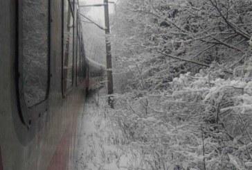 Dejeni înghețați în tren, după ce circulația feroviară a fost blocată  între Brașov și Predeal – FOTO