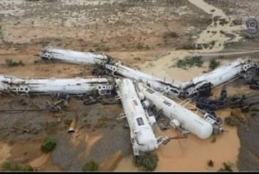 Accident feroviar în Australia. Un tren ce transporta 200.000 de litri de acid sulfuric, a deraiat