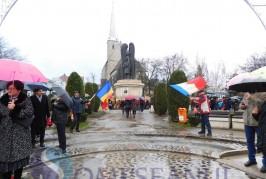 Ziua Națională a României, sărbătorită pe ploaie la Dej – FOTO/VIDEO