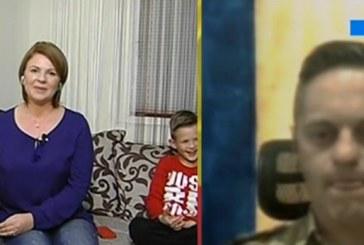 Moment emoționant de Ziua României. Un militar din Dej, plecat în Afganistan, a intrat în direct cu familia de acasă – VIDEO