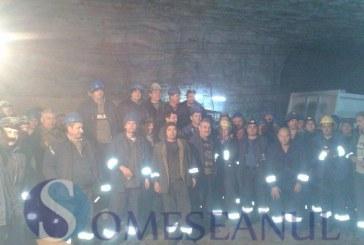Zeci de mineri blocați în subteran la Dej. Protestul de la Salina Ocna Dej s-a amplificat