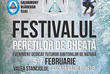 Festivalul pereților de gheață ajunge la a doua ediție la cascada Vălul Miresei din Răchițele