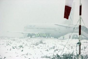 Incidentul aviatic de pe Aeroportul Cluj: Condițiile meteo au dus la ieșirea avionului de pe pistă