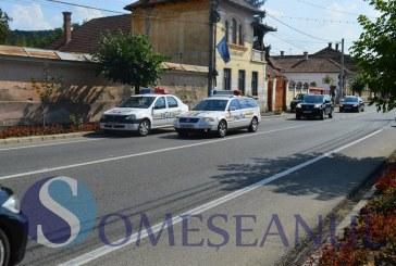 Mașină oprită la control în trafic la Jucu. Șoferul a luat-o la fugă, fiind urmărit de oamenii legii