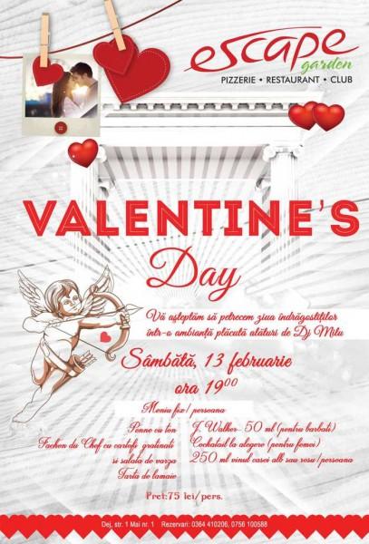 """AFIS-VALENTINES-2016-Dej-407x600 CONCURS: Someșeanul.ro și """"Escape"""" fac cinste de Ziua Îndrăgostiților"""