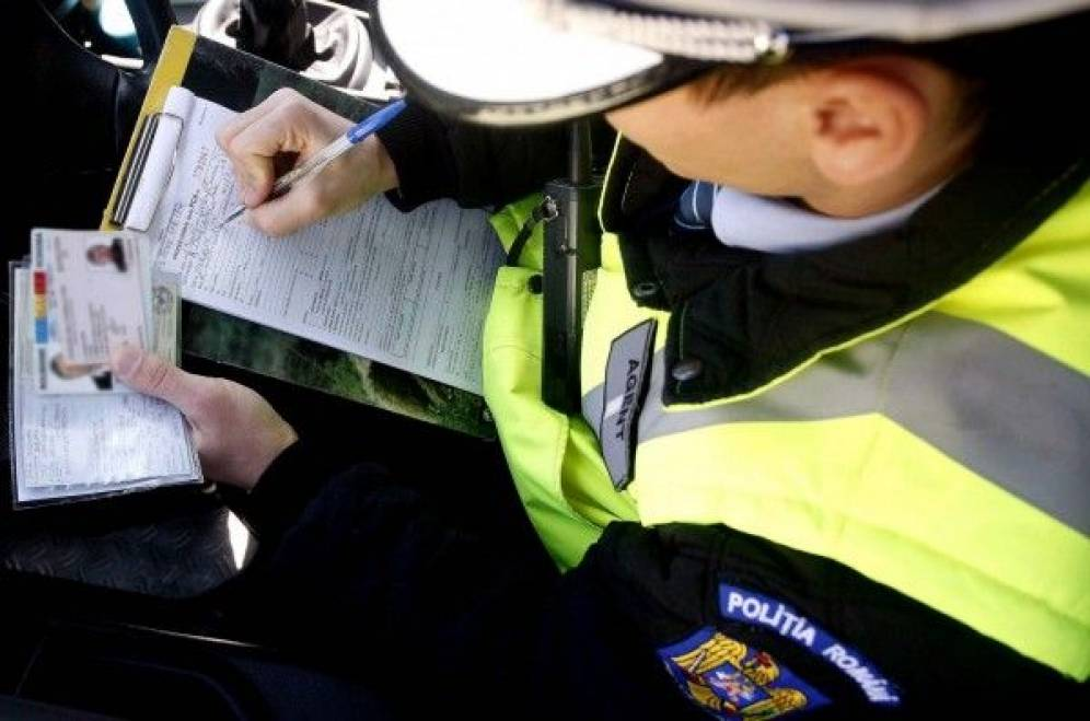 fara permis radar actiune politie amenda