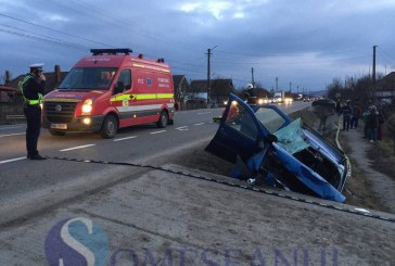 Accident grav la Sâmboleni, provocat de o șoferiță fără permis din Apahida