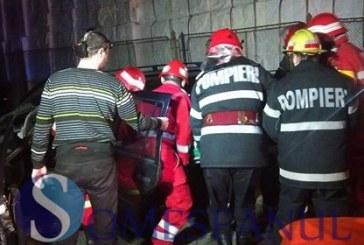 FOTO/VIDEO – Accident feroviar  HORROR în Dej! Mașină spulberată de tren