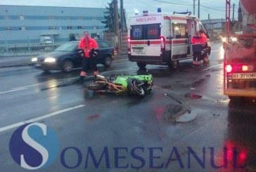 Motociclist din Cășeiu, rănit într-un accident produs de un șofer beat – FOTO/VIDEO