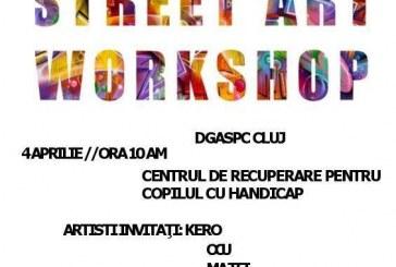 Workshop de street-art la Cluj-Napoca, de Ziua Internațională a Conștientizării Autismului