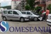 Două mașini implicate în accident pe strada Clujului din Gherla- FOTO/VIDEO