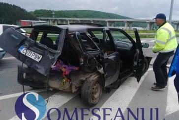 Accident grav la intrare pe Autostrada Transilvania. Cinci persoane au ajuns la spital – FOTO