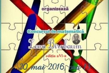 """Concursul zonal de matematică """"Leon Birnbaum"""" are loc din nou la Dej"""