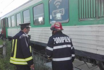 Trafic feroviar blocat între Bistrița și Suceava după ce un copac a căzut peste locomotiva unui tren