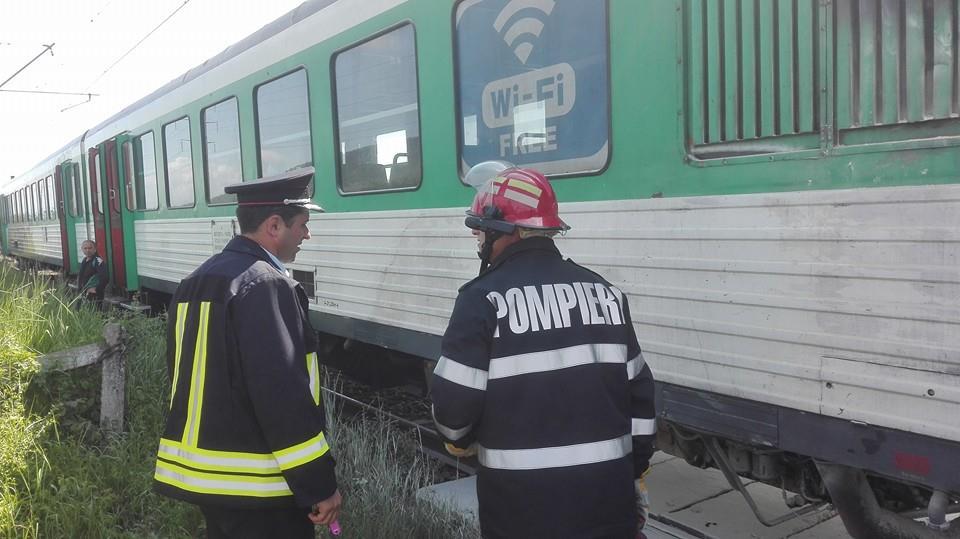 incendiu locomotiva tren bistrita